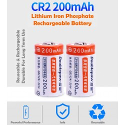 Doublepow CR2 Lithium Iron Phosphate (LiFePO4) Rechargeable Battery