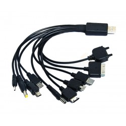 10 In 1 USB Power Cable For Mobile Phones