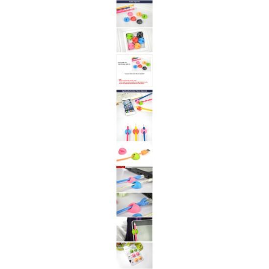 Cable Holder Organizer [Single Slot 6pcs]