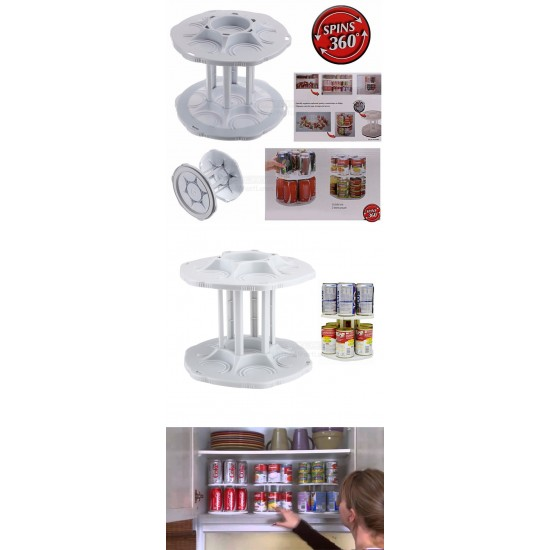 Can Tamer Rotating Can Food And Drink Organizer