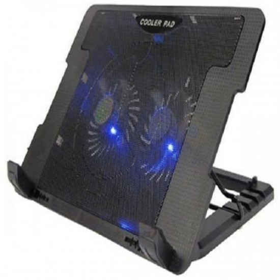 Laptop Adjustable Height Cooling Pad [2 Fans]