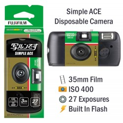 Fujifilm Simple Ace Disposable Film Camera [27 Exp] [New]