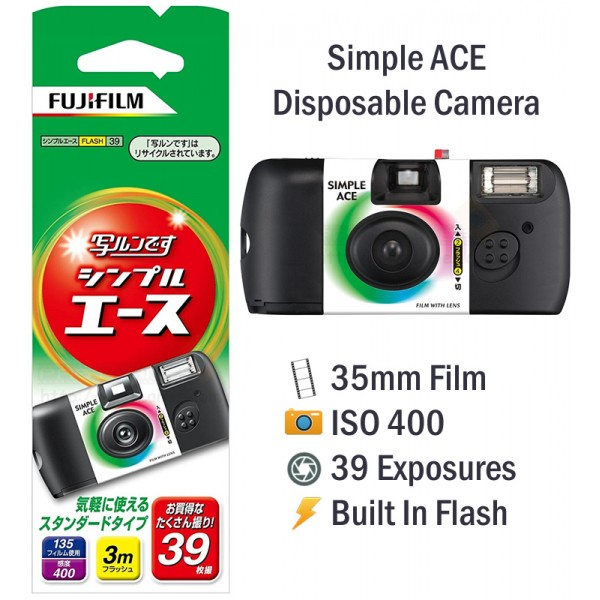 Fujifilm Simple Ace Disposable Film Camera [39 Exp]