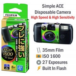 Fujifilm Simple Ace Disposable High Speed Film Camera [27 Exp]