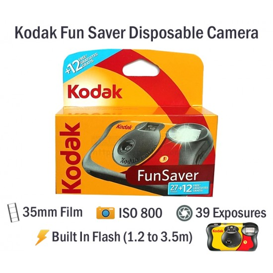 Kodak Fun Saver Disposable Film Camera [39 Exp]