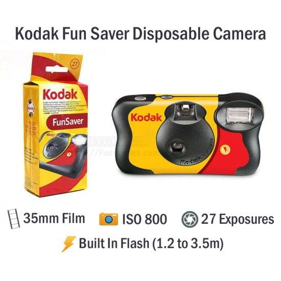 Kodak Fun Saver Disposable Film Camera [27 Exp]