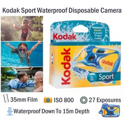 Kodak Sport Waterproof Underwater Disposable Film Camera [27 Exp]