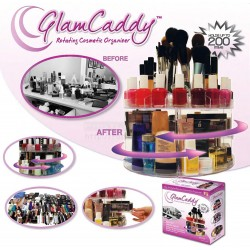 Glam Caddy Rotating Makeup Cosmetic Organizer