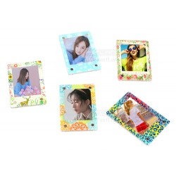 Acrylic Magnetic Mini Photo Pattern Frame [1 Slot]