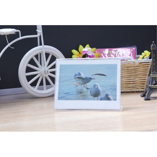 Acrylic Wide Photo Frame Stand [1 Slot]
