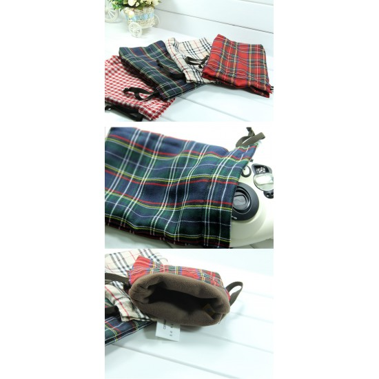 Checkered Pouch Bag