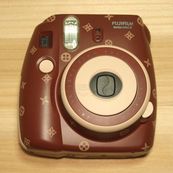 Instax Mini 8 Polaroid Camera (Mixed Brown Pattern)