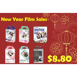 Fujifilm Instax Mini Film, Square Film, Wide Film New Year Sales
