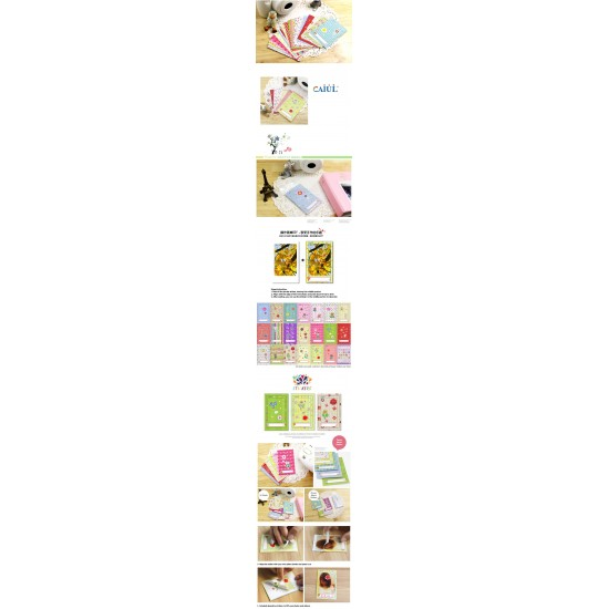 Instax Film Skin Sticker (Flower Memo) [Mini Film]