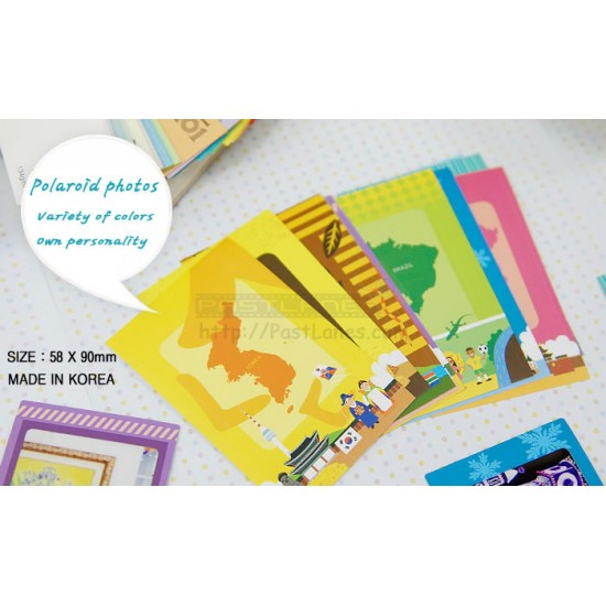 Instax Film Skin Sticker (World Travel) [Mini Film]