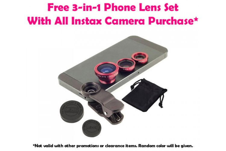 Free 3-In-1 Phone Lens With Instax Camera Purchase