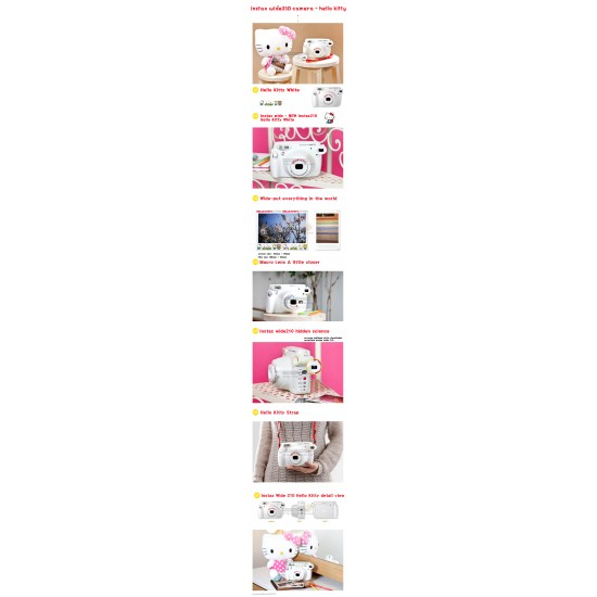 Fujifilm Instax 210 Wide Polaroid Camera (Hello Kitty) + Mystery Gift