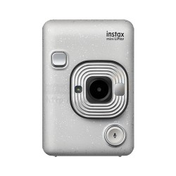 Instax LiPlay Hybrid Camera & Smartphone Photo Printer (Stone White)