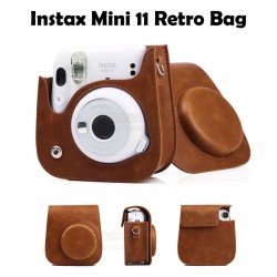 Instax Mini 11 Retro Brown Leather Bag