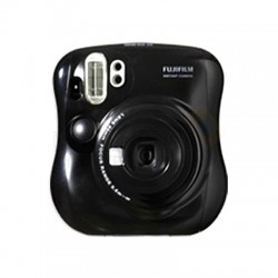 Fujifilm Instax Mini 25 Polaroid Camera (Black) + Mystery Gift