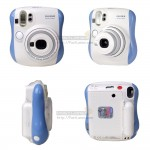 Fujifilm Instax Mini 25 Polaroid Camera (Blue) [Baby Box]