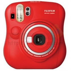 Fujifilm Instax Mini 25 Polaroid Camera (Red) + Mystery Gift