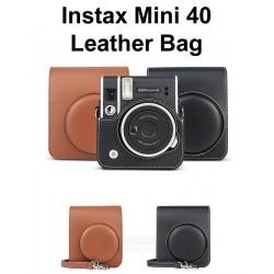 Instax Mini 40 Retro Leather Bag