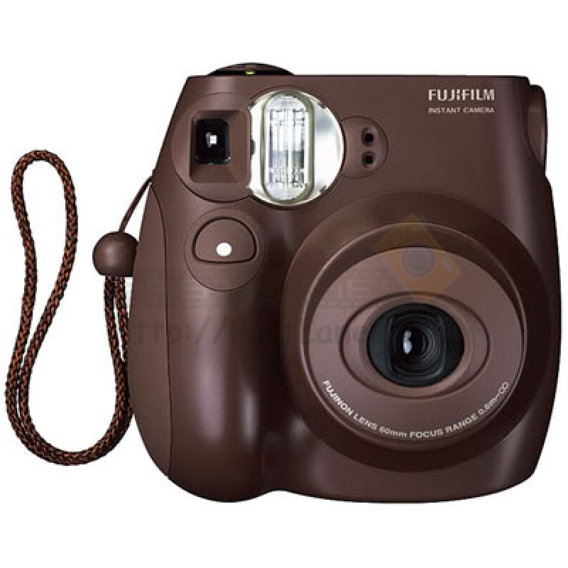 fujifilm instax mini 7s polaroid camera choco. Black Bedroom Furniture Sets. Home Design Ideas