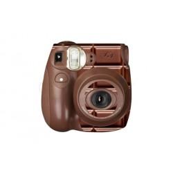 Fujifilm Instax Mini 7S Polaroid Camera (Choco)  [Sticker + Close-up Lens With Mirror]