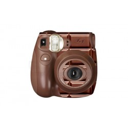 Fujifilm Instax Mini 7S Polaroid Camera (Choco)  [Sticker + Close-up Lens With Mirror]