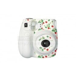 Fujifilm Instax Mini 7S Polaroid Camera (White) [Sticker + Close-up Lens With Mirror]