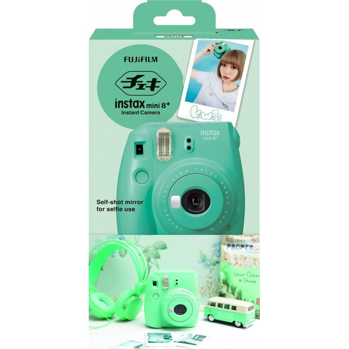 fujifilm instax mini 8 plus polaroid camera mint. Black Bedroom Furniture Sets. Home Design Ideas
