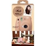 Fujifilm Instax Mini 8+ Plus Polaroid Camera (Cocoa) + Mystery Gift