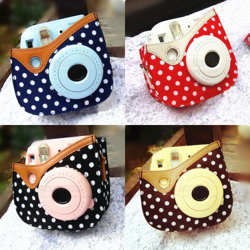 Polka Dot Fabric Case For Instax Mini 8