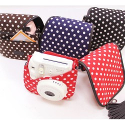 New Polka Dot Fabric Case For Instax Mini 8, Mini 8+, Mini 9