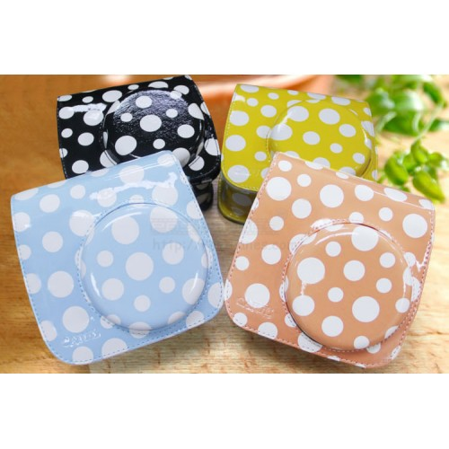 Polka Dot Leather Bag For Instax Mini 8