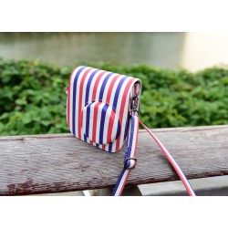 Red-Blue Stripe Leather Bag For Mini 8, Mini 8+, Mini 9