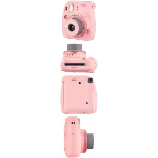 Fujifilm Instax Mini 9 Polaroid Camera (Clear Pink) + Mystery Gift