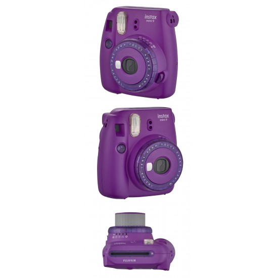 Fujifilm Instax Mini 9 Polaroid Camera (Clear Purple) + Mystery Gift
