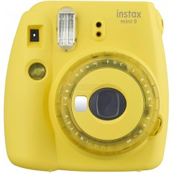 Fujifilm Instax Mini 9 Polaroid Camera (Clear Yellow) + Mystery Gift