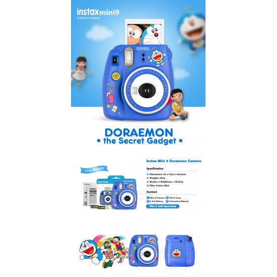 Fujifilm Instax Mini 9 Polaroid Camera (Doraemon)