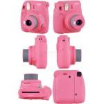 Fujifilm Instax Mini 9 Polaroid Camera (Flamingo Pink) + Mystery Gift