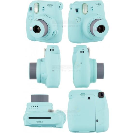 Fujifilm Instax Mini 9 Polaroid Camera (Ice Blue) + Mystery Gift