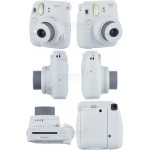 Fujifilm Instax Mini 9 Polaroid Camera (Smokey White) + Mystery Gift