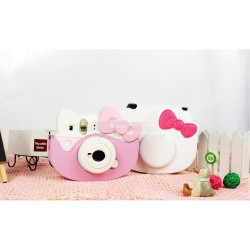 Ribbon Leather Bag For Instax Mini Hello Kitty