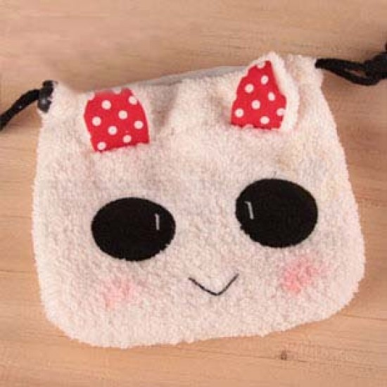 Rabbit Fluffy Pouch Bag