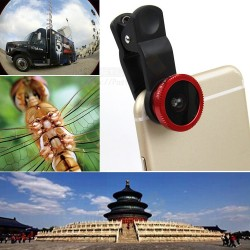 Universal 3 In 1 Wide Angle, Macro, Fisheye Lens For Mobile Phone