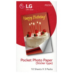 LG Sticker Photo Paper For LG Pocket Printer PS2313 Zink Paper