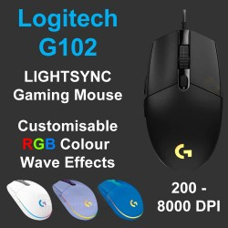 Logitech G102 Lightsync RGB 6 Button Wired Gaming Mouse