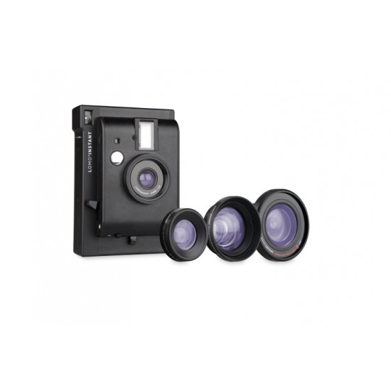 Lomo'Instant (Black) + 3 Lenses +FREE Extra Color Gel +FREE Strap